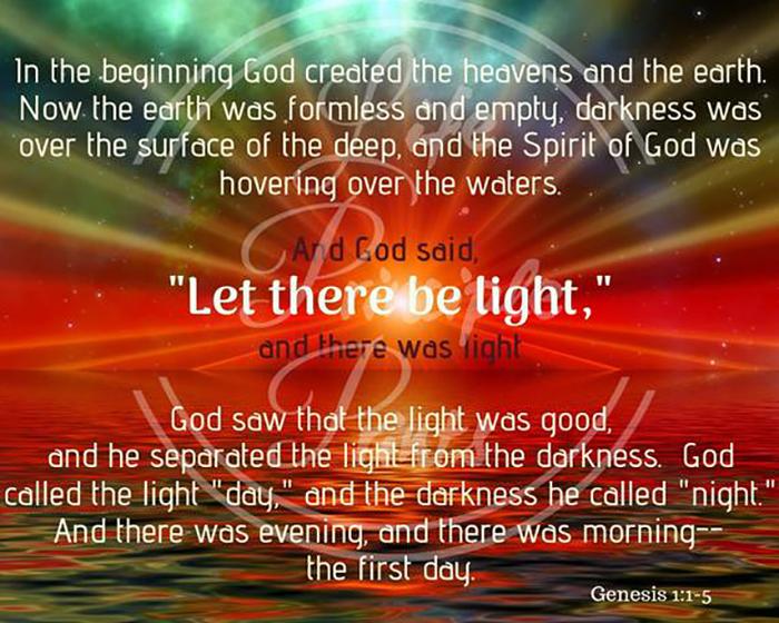Saagu Valgus Jumal Ytles Saagu Valgus ja Valgus sai Valguse Palve Piibli alusel las Jumala Valgus olla meie südames